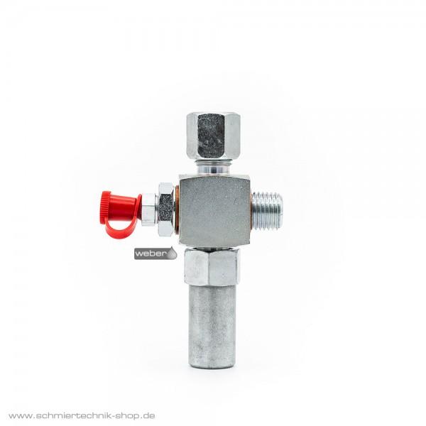 SKF Druckbegrenzungsventil - Rohr 6 mm ∅ - mit Schmiernippel