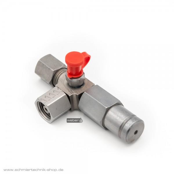Überdruckventil Links mit Schmiernippel für Pumpenelemente PE-60, PE-120, PE-170, PE-60 F, PE-120 F, PE-170 F | 21520068
